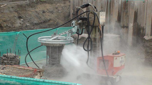 Water Jet Pile Cropping