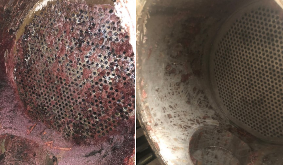 heat exchanger before and after