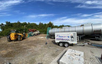 UHP Water Pump Saves Blocked Putzmeister Concrete Pump